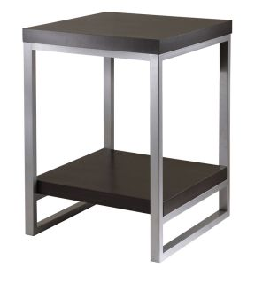 Jared Black Modern Style Square End Table Metal MDF