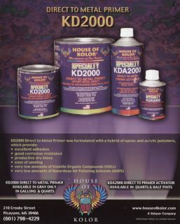 House of Kolor KD2000 Metal Primer GL KT Auto Car Paint