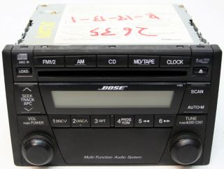 MAZDA MIATA MX5 FACTORY STEREO BOSE 6 DISC CHANGER CD RADIO ND22669R0