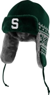 Michigan State Spartans Green New Era Team Trapper Trooper Hat