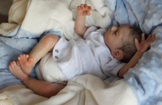Beautiful Reborn Newborn Baby Boy Doll Easton by Michelle Fagan