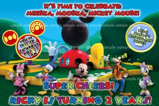 Personalized Mickey Mouse Clubhouse Birthday Party Invitations Custom
