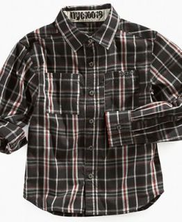 DKNY Kids Shirt, Boys Breton Plaid Shirt
