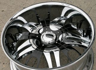 Dvinci Vento 22 Chrome Rims Wheels Nissan Titan Pickup 22 x 9 5 6H 15