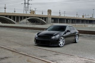 is350 Is Concept One CSM7 Concave Silver Staggered Wheels Rims