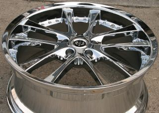 Stern Grans 19 Chrome Rims Wheels Infiniti M35 06 Up 19 x 8 5 5H 38