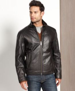 Marc New York Jacket, Nolan Rugged Leather Coat   Mens Coats & Jackets