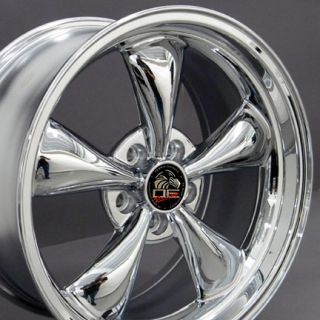Chrome Bullitt Bullet Style Wheels Rims Fit Mustang® GT 94 06