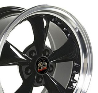 17 9 10 5 Black Bullitt Bullet Wheels Set of 4 Rims Fit Mustang® GT