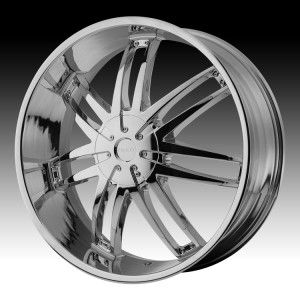 24 inch Helo Chrome Wheels Rims 6x135 Ford F150 Expedition Navigator 6