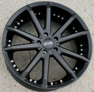 Gianelle Spidero 5 20 Black Rims Wheels Acura TL TSX 20 x 8 0 5H 38
