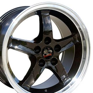 17 9 10 5 Black Cobra Wheels Rims Fit Mustang® 94 04