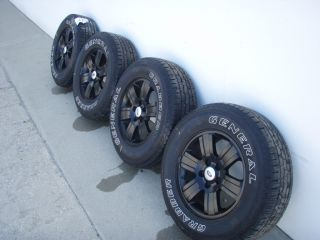 Wheels Set of 4 Painted Black with Tires 2006 2007 2008 2009 2010