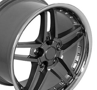 Corvette C6 Z06 Style Wheels Rivets Lip Rims Fit Chevrolet Camaro