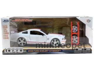 Jada LoPro 2008 Ford Shelby GT 500KR 1 24 with 2 Sets of Wheels White