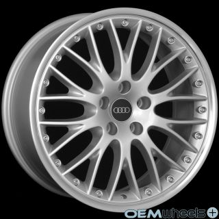 MESH MACHINE LIP WHEELS FITS AUDI A8 A8L S8 D2 D3 D4 W12 QUATTRO RIMS