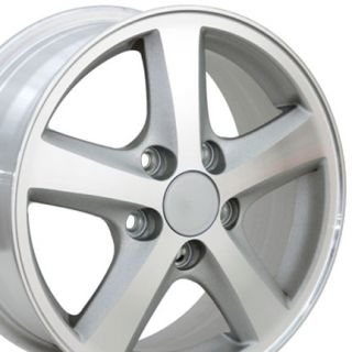 15 Accord Machined Silver Wheels Set of 4 Rims Fit Honda Civic Hybrid