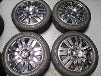 Ford Edge Factory 20 Chrome Clad Wheels Tires OEM Rims 3701 Pirelli