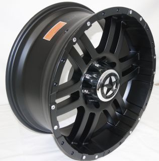 Wheels 20x9 Dodge Trucks 8 Lug Matte Black 20 inch Rims 2500