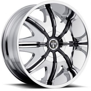 28x10 Chrome Black Dub Doggy Style Wheels Rims Hummer H2 SUT H1 Alpha