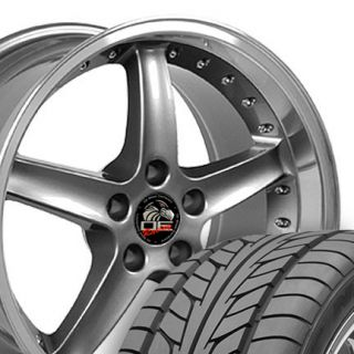 18 9 10 Gunmetal Cobra Wheels with Nitto Tires Rims Fit Mustang® GT