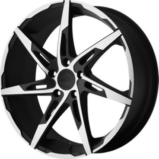 Machined Black American Racing AR900 Wheels 5x115 +42 CADILLAC SEVILLE
