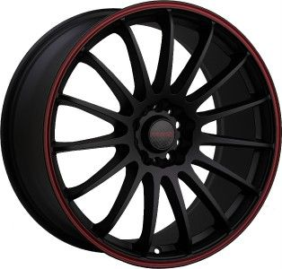 Tenzo R Cuzco black red stripe wheels rims 5x100 pt cruiser sebring