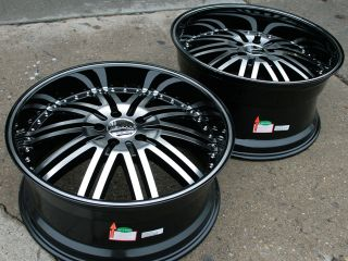Menzari Z08 20 Black Rims Wheels Nissan 350Z Staggered