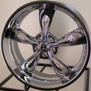 22 Chrome American Racing Shelby Torq Thrust M Wheels Mustang