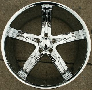 Flawless 762 22 Chrome Rims Wheels Malibu 97 03 22 x 8 5 5H 35
