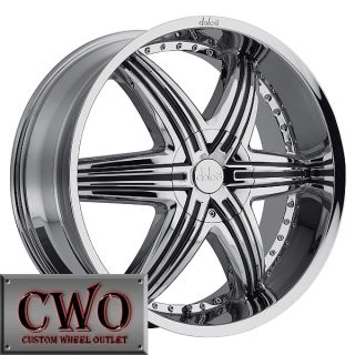 22 Chrome Dolce DC48 Rims 5x115 5x120 5 Lug Grand Am Prix cts BMW