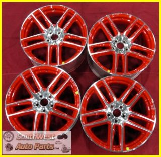 12 13 Ford Mustang Boss 302 Laguna Seca 19 Machined Red Wheels Set