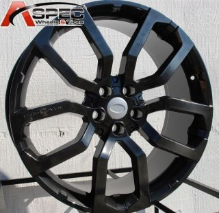 22 Black Land Rover Range HSE LR3 LR4 LRX Rims Wheels