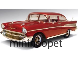 Highway 61 50919 1957 Chevy Bel Air Sedan 1 18 Diecast All Red