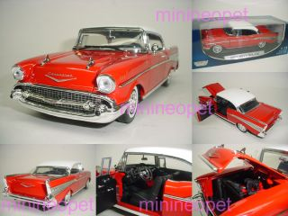Motormax 1957 57 Chevy Bel Air Belair 1 18 Red