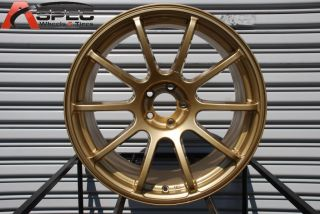 18x9 Rota G Force 5x100 35 Gold Wheel Fits Jetta Golf TT WRX Impreza
