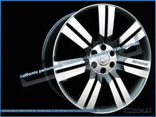 24 inch Cadillac Escalade Gun Metal Machined Face Wheels GMC