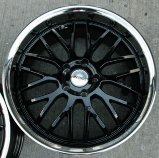 Petrol Vengeance 20 Black Rims Wheels E39 E60 5 Series
