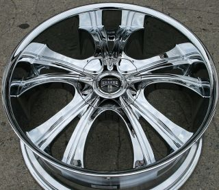 Dub Viper S144 22 Chrome Rims Wheels GMC Acadia 07 Up 22 x 9 5 6H 30