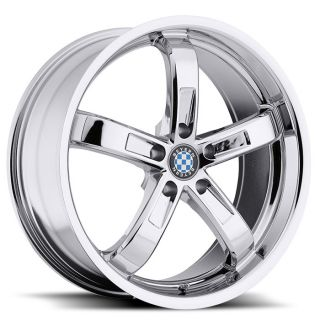 18 Beyern Five BMW M Rims Chrome Staggered Set 4 Wheels E38 E60 E70