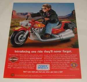 Rare AUTHENTIC FISHER PRICE POWER WHEELS HARLEY DAVIDSON CRUISER