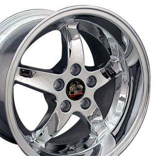 17 Chrome Cobra R Deep Dish Wheels Rims Fit Mustang ®