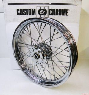 40 SPOKE CUSTOM CHROME FRONT WHEEL HARLEY SPORTSTER DYNA FX FXR 84 99