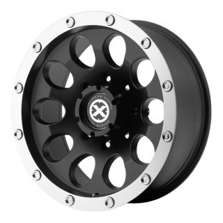 RACING ATX AX186 SLOT AX18657060706N 15X7  6MM OFFSET S BLACK MACH RIM
