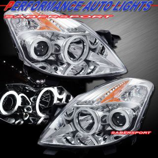 08 09 Nissan Altima 2dr Coupe Dual CCFL Halo Projector Headlights w