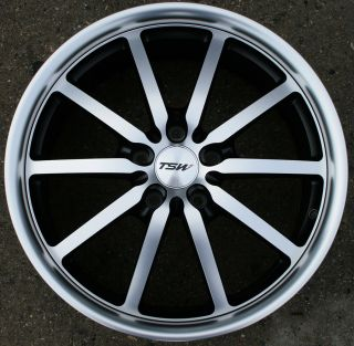 TSW Sepang 18 Black Rims Wheels Honda Accord 5 Lug