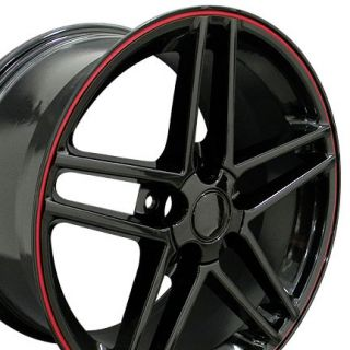 18 9 5 10 5 Black C6 Z06 Wheels Rims Fit Camaro Corvette