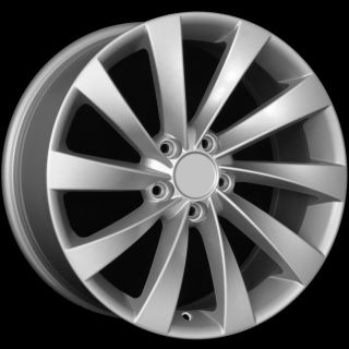 18 VW Turbine Style Matte Silver Wheels Rims Fit VW Golf Rabbit GTI