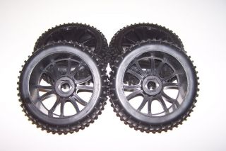Hurricane XTR 1/8 Scale 4x4 Nitro Buggy 17mm Wheels Tires Rims Set