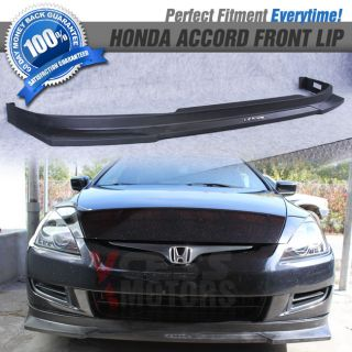 Fit 03 05 Honda Accord Coupe HC1 Style Front Bumper Lip Spoiler PP